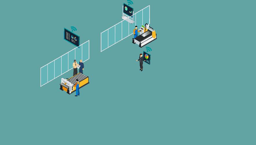Dashboarding digital vernetzt in Produktion und Verwaltung