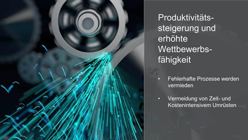 Visualisierung von Produktivitätssteigerung und erhöhter Wettbewerbsfähigkeit durch bessere Daten