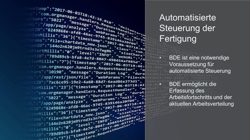 Visualisierung von automatisierter Steuerung der Fertigung durch bessere Daten